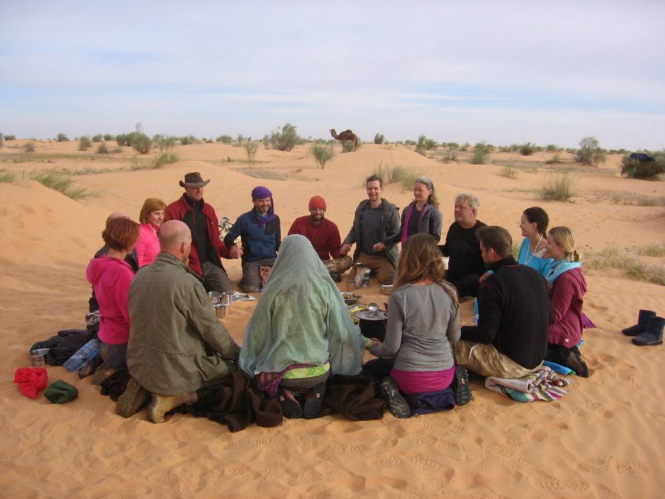 společný kruh naPutování Saharou