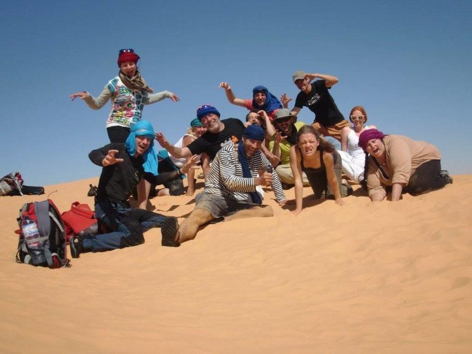 skupina poutníků - vision quest Sahara 2017