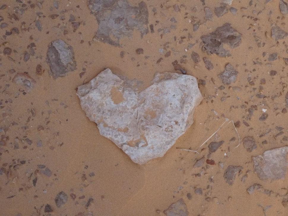 srdce vpísku Sahary