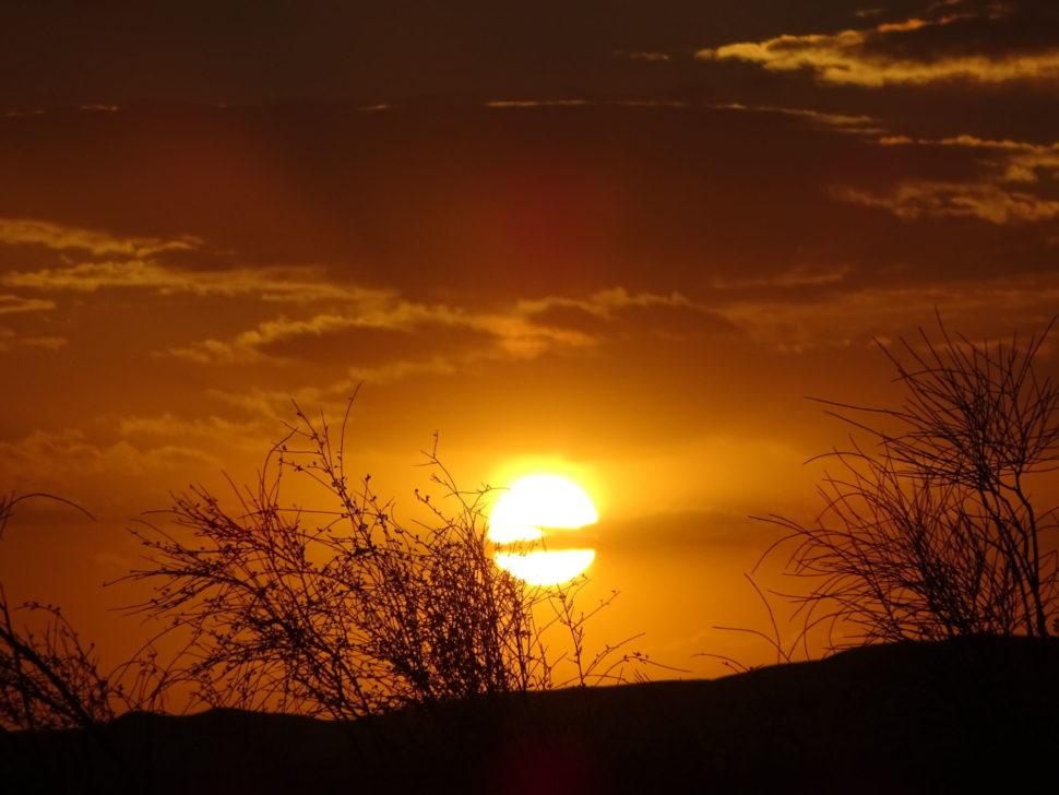 západ slunce naSahaře