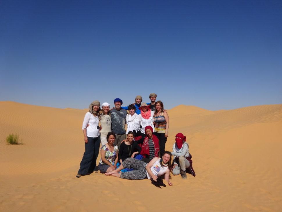 skupina poutníků - vision quest Sahara 2019
