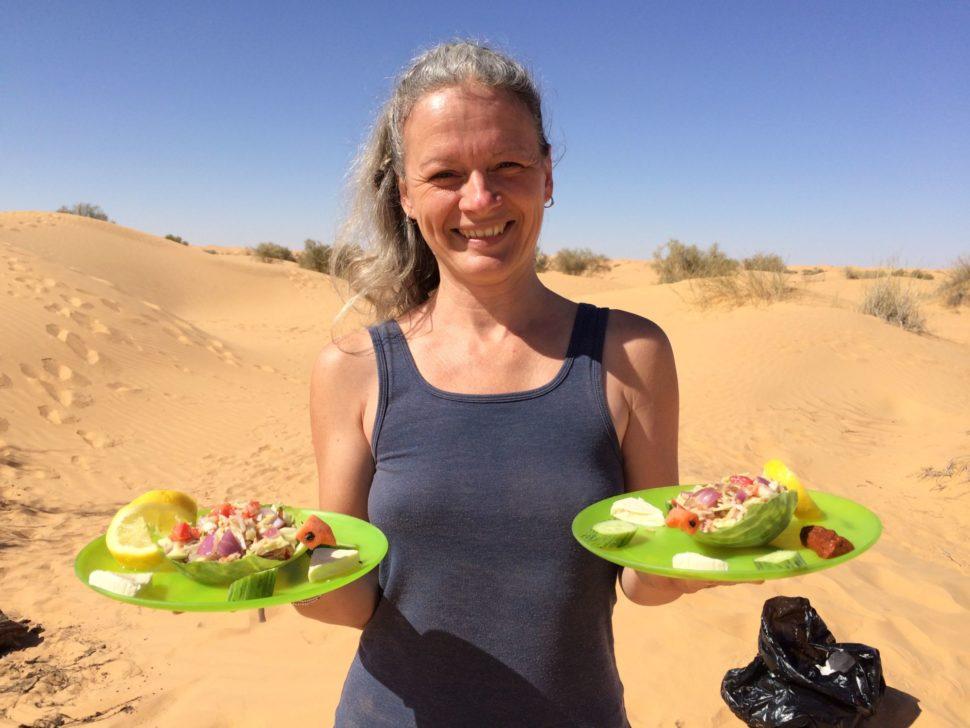 Puotvání Saharou pro ženy - jídlo